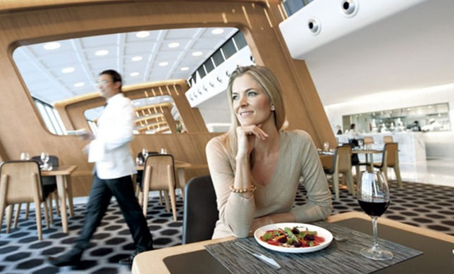 You get premium services at the Lounge including exquisite meals, snacks and beverages, wireless Internet access.